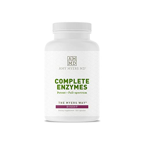 Dr. Amy Myers Digestive Enzymes - 19 Enzymes to Support IBS, Leaky Gut, Bloating, Constipation, Gluten Exposure - Amylase, Lactase, Lipase, Alkaline Protease, Sucrase + More - 120 Vegetarian Capsules