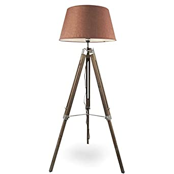 MOJO® Stehlampe Höhenverstellbar Stehleuchte Tripod Lampe Leselampe  Dreifuss Mq L33