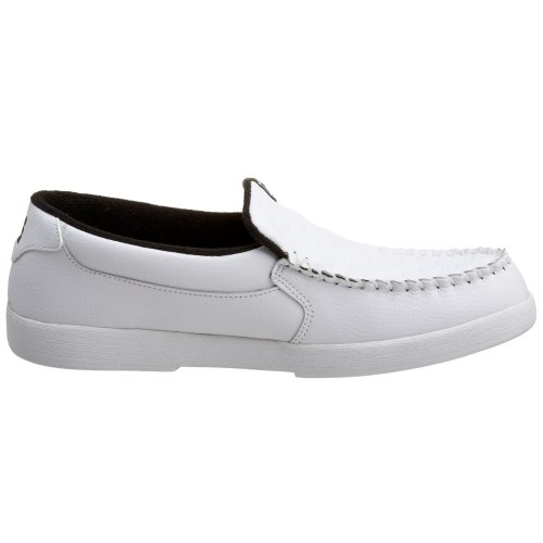 DC - - Slip Villain M masculino en el zapato White/Monogram