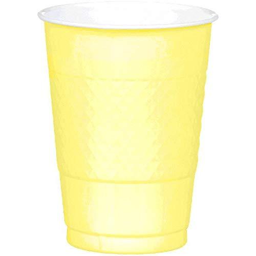 JF World Light Yellow Plastic Cups 16oz 20ct
