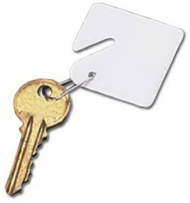 Buddy Products Blank Plastic Key Tags, White, Set of 15 (0010) by Buddy Products Buddy Plastic Key Tags