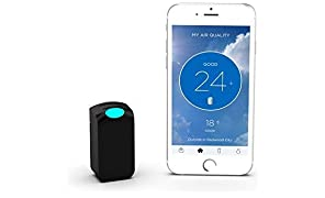 "Wynd Wearable Air Quality Tracker Bundled with A Free Kindle Book ""What's in Your Air?"" (Black Matte)"