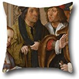 [Pillow Shams Of Oil Painting Lucas Van Leyden - Potiphar's Wife Displays Joseph's Garment,for Deck Chair,wife,gf,christmas,bench,deck Chair 16 X 16 Inches / 40 By 40 Cm(twin] (Potiphar Costume)