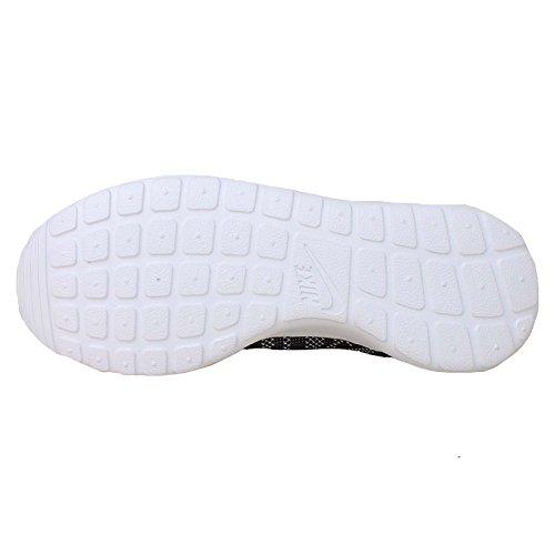 Roshe Material Deportiva Nike Knit Mujer Run de Jacquard sintético Negro Zapatilla Blanco awp6wd