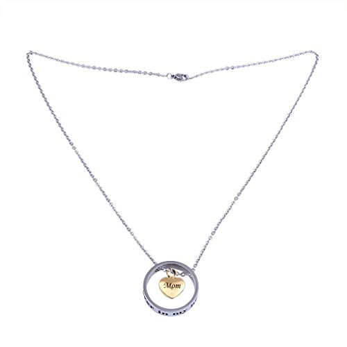 - Joopee Fashion Women Neckless, Personality Heart Rose Gold Crab Cylinder Necklace Pendant Souvenir Ashes Engraved Letter Necklace with Adjustable Chain Pendant (B)