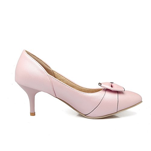 Balamasa Mujeres Pointed-toe Spikes Stilettos Low-cut Uppers Urethane Pumps Zapatos Pink