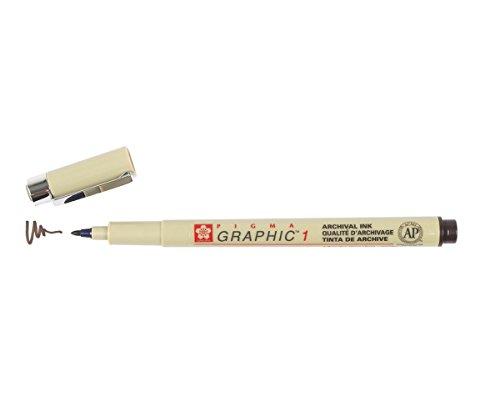 Sakura Pigma Graphic Pen, 1.0mm Bullet Tip, Sepia (XSDK1-117)