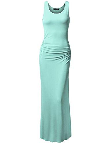 TWINTH Summer Elegant Mermaid Evening Dress Gown Iceblue 3XL Plus Size