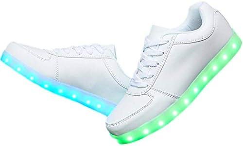 LED 光る スニーカー シューズ 靴 7色+4パターン 発光 USB充電 メンズ レディース
