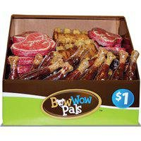 Bow Wow Pals 8885 Assorted Shape Pet Chx/Rib/Steak