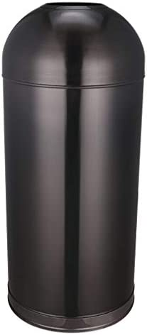 ボールゴミ箱大きなステンレス鋼の覆われていないゴミ箱屋外のオフィスホテル屋外のゴミ箱はバケツ80 cmをむくことができます (Color : Black)