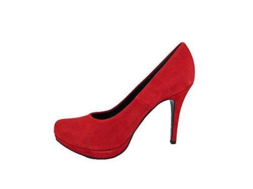 Con Camoscio Spillo Copla Piattaforma Punta A Donna Per Chiusa Gennia E Rosso Scarpe Pelle Tacco 4OwRpE