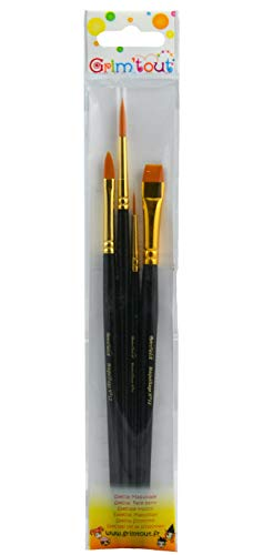 Grim Tout Set of 4 Cosmetic Face Painting Brushes, Assorted]()