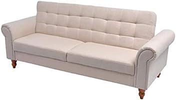 Tuduo Sofá Cama de Tela Color Crema, Elegante, cómodo y ...