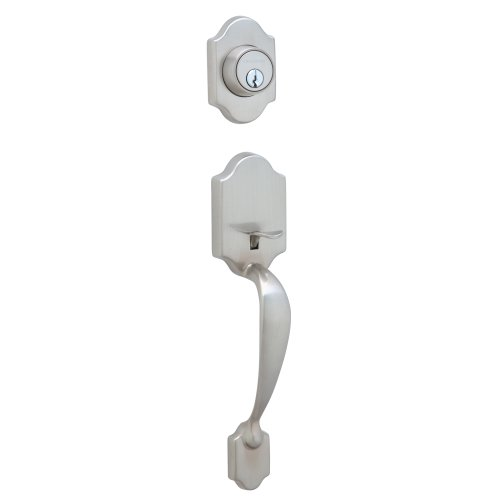 Dexter by Schlage JH58PRS619 Paris Exterior Handleset with Deadbolt, Satin - Entry Grip Handleset