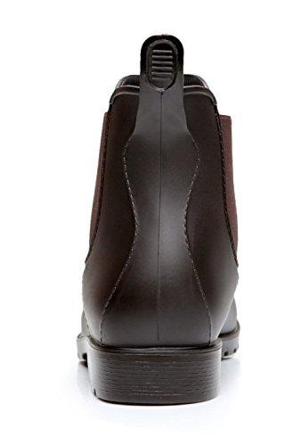Agua Estilo Marrón Botas Mujer Mujer Para AgeeMi Impermeable Chelsea Botines Shoes tqppwUA