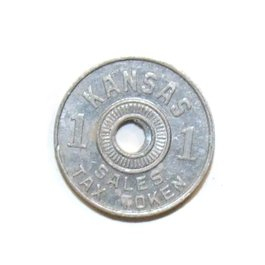 Vintage Kansas Sales Tax Token Coin