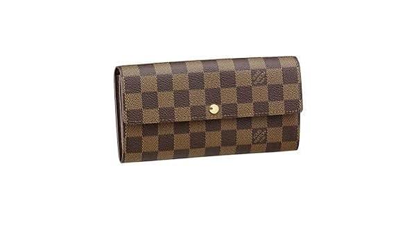Louis Vuitton Damier Sarah Cartera m61734 incluye protector contra el polvo y fabricantes FECHA código: Amazon.es: Hogar