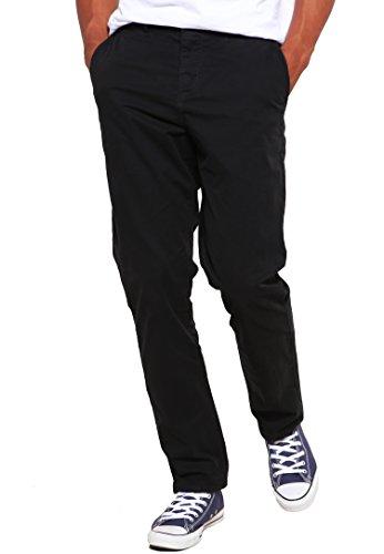 Chino-Hose für Herren Slim-Fit in Schwarz von ★ The Style Room ★ Stylische Männer-Stoffhose, eng Skinny-Fit, 32