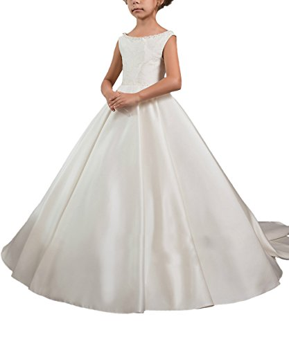 Abaosisters First Communion Dresses Elegant Flower girl Dresses White Size 4 Christmas Dresses For Girls Dillards