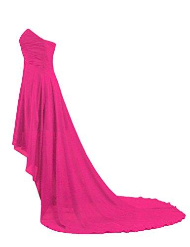 Di Da Caldo In Delle Fronte Breve Vestito Rosa Promenade Formiche Nuovo Lunghe Sera Chiffon Donne Di waqXz