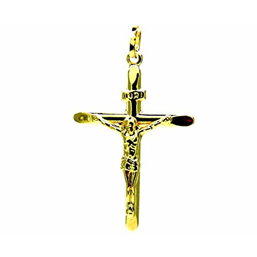 51d830608fa8 Pegaso joyas – colgante oro amarillo 18 kt Cruz con Cristo achaflanada ...