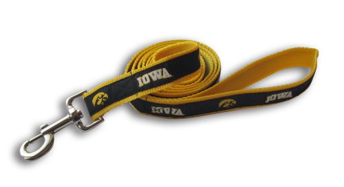 (NCAA Iowa Hawkeyes Dog Leash, Medium/Large )