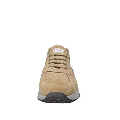 Saben Shoes Scamosciata Pelle Beige Uomo Sneaker 010dwZrxq
