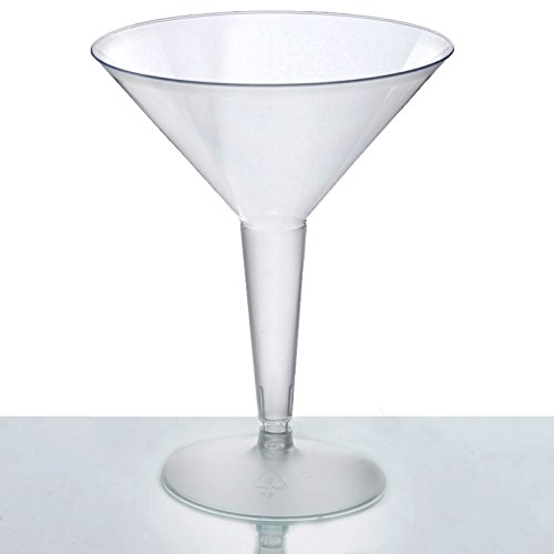 (BalsaCircle 30 pack 8 oz Clear Plastic Martini Glasses - Disposable Wedding Party Catering)