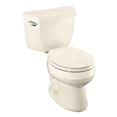 Kohler Wellworth Classic 1.28 gpf Round-Front Toilet with Class Five Flushing Technology and Left-Hand Trip Lever