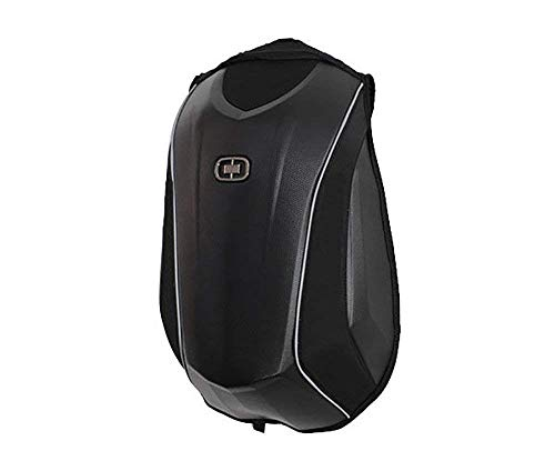 (YTBLF Outdoor Motorcycle Backpack Carbon Fiber Backpack Black Invisible)