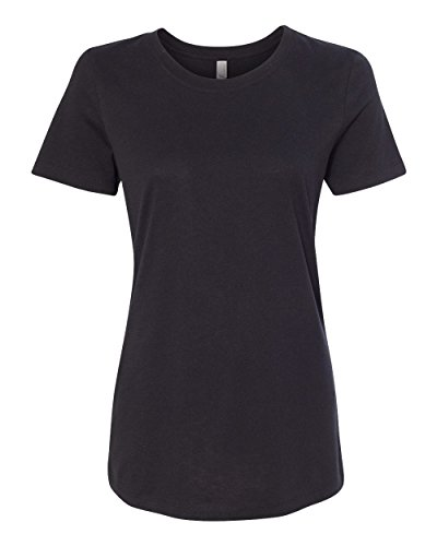Next Level Womens Ideal Short-Sleeve Crew Tee (N1510) -BLACK -S