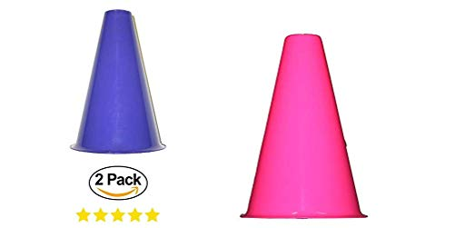 Kids Party 2 Cheer Leading Megaphones. Girls Cheer Cone. Goes Great with Cheering Pom Poms (Color Varies) -