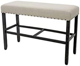 HOMES: Inside + Out Antique Black Greggory Rustic Counter-Height Bench 141[並行輸入]