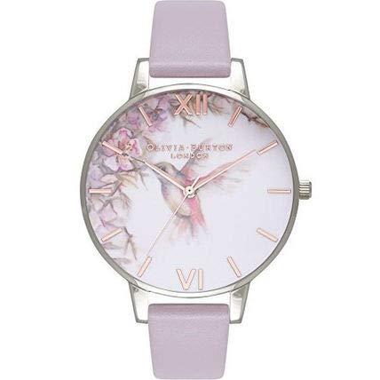 Olivia Burton Reloj Analógico para Mujer de Cuarzo con Correa en Cuero OB16PP23: Amazon.es: Relojes