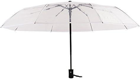Rose Fansi 1 pcs Adolescent /étudiant cr/éatif Mode /él/égant Automatique Transparent Pliable Parapluie