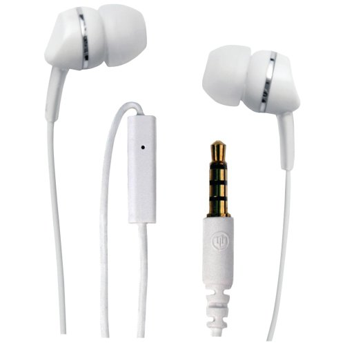 WICKED WI-1954 Metallics Headphones with Microphone (White)