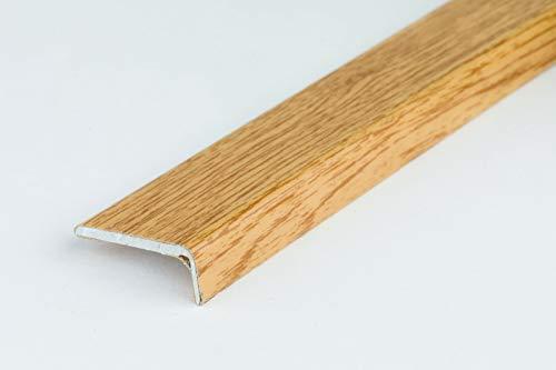 SELF-Adhesive Oak Walnut Threshold 1M Door Stops End Laminate Floor Edge Strip Trim TMW Profiles (Noble Oak)