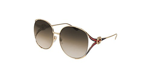 Gucci sunglasses (GG-0225-S 002) Gold - Blue - Brown grey black Gradient - Gucci Round Sunglasses