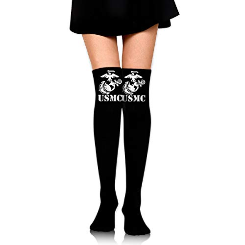 - Eagle Globe Anchor USMC Marine Corps Socks,Knee Thigh High Socks Stockings