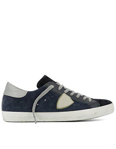 Philippe Model Herren CLLUXY32 Blau Leder Sneakers