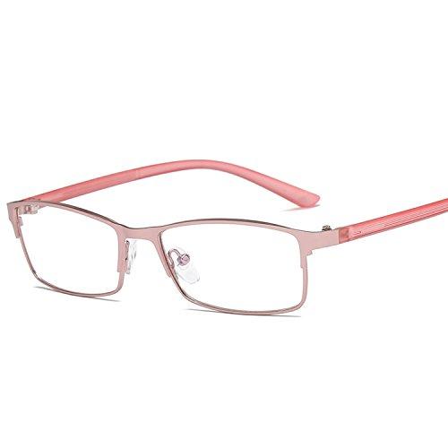 flat trendmirror frame eyeglasses spectacles metal eyebrow models men glasses jelly color,Rose ()