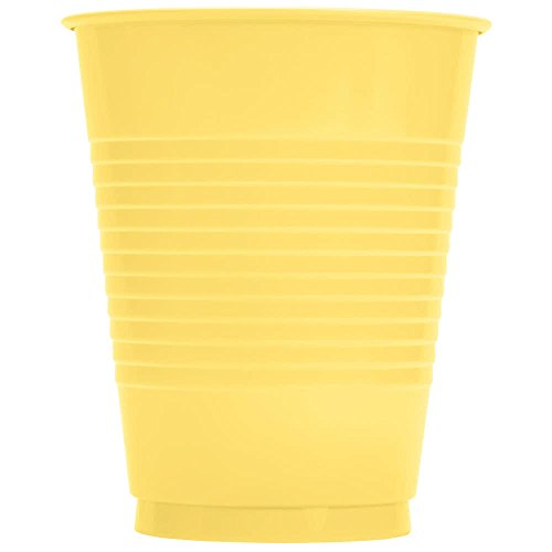 28102081 16 oz. Mimosa Yellow Plastic Cup - 240/Case By TableTop King
