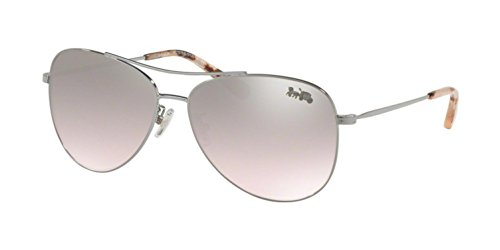 COACH Women's 0HC7079 58mm Shiny Gunmetal/Pink Silver Flash One Size