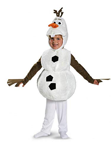 Disguise Baby's Disney Frozen Olaf Deluxe Toddler Costume,White,Toddler L (4-6) ()