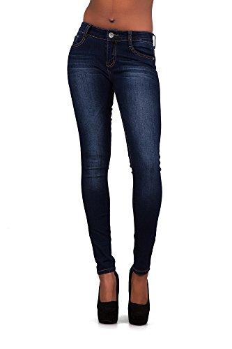 Donna Navy Blue Skinny Lustychic Jeans wnUWxqnfa