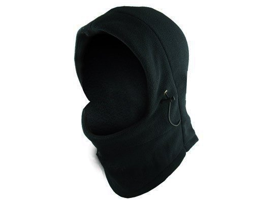 WM KING Neck Warmer Hoods Ski Motor Hat Winter Thermal Balaclava Scarf Fleece Face CS Mask - Double Layers (Black)