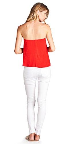 f9ce0d46d Loving People L.P. Women's Flared Tube Top Strapless Shirt, Medium, ...