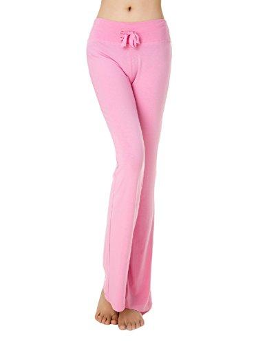 Women's Active Workout Bootleg Yoga Running Pants Pink X-Large