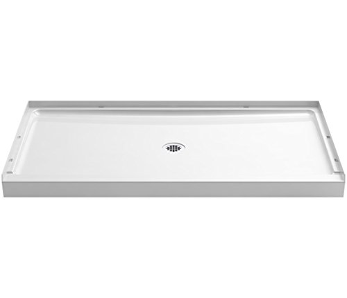 STERLING 72331100-0 60 In. W x 34 In. L Shower Base, White